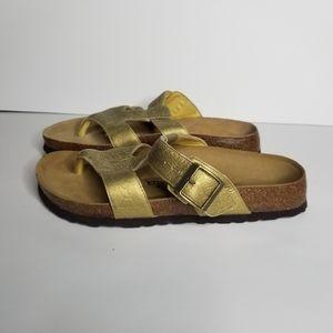Betula by Birkenstock Sandals Gold Size 8
